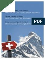 Checklist Living and Working in Switzerland