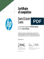Certificado de Finanzas de HP