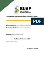 Tarea de Auditoría Gubernamental (Carlos David Hernández Ramírez) (Clase de las 1100 hrs)