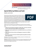 Special Children's Edition - Call for Papers and Registrati