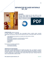 Filtru Separator de Gaze Naturale Tip FS