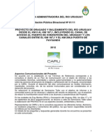 Preguntas y Respuestas dragado río Uruguay Caru