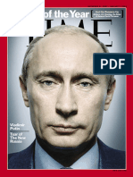 Time Person of the Year 2007 - 31 Dec 2007 VLADIMIR PUTIN