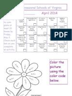 april 2014 homework calendar