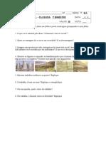 avaliação filosofia 7ª série 1º bimestre