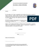 FORMATO DE SOLICITUD DE EXAMEN DE RECUPERACIÓN DE LA CLASE DE INGLÉS