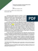 REESTRUTURAÇÃO NAS GRANDES CIDADES BRASILEIRAS
