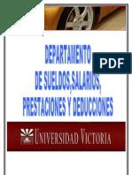DEPARTAMENTO DE SUELDOS Y PRESTACIONES