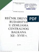 Vukanovic Tatomir  Rečnik Drevnog Rudarstva u Zemljama Centralnog Balkana