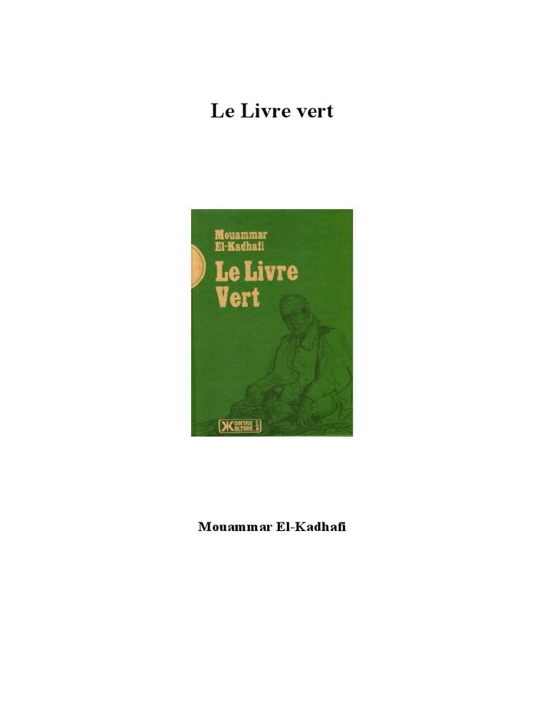 Kadhafi mouammar le livre for Les espaces verts pdf