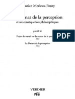 Merleau-Ponty - Le Primat de La Perception