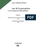 Merleau-Ponty - Le Primat de La Perception