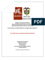 Memorias Congreso Nacional de Música 2009