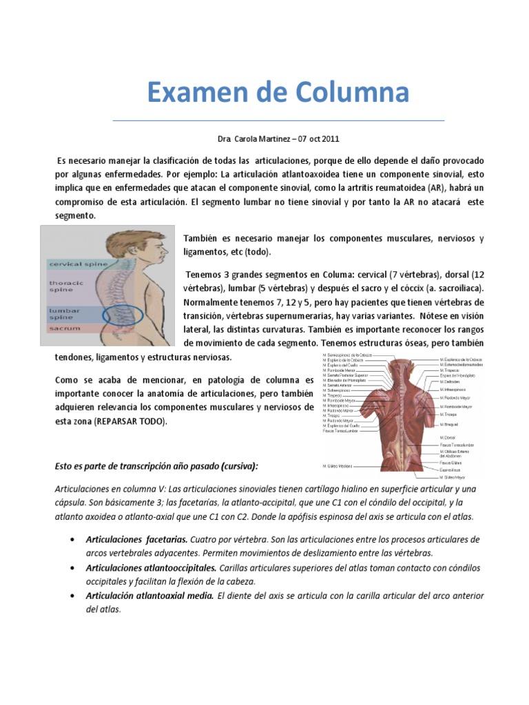 12. Examen de Columna