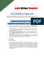USB Flash drive repair software