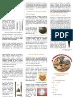 TRIPTICO Prehistoria en Europa Debe 1.50