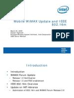 WiMAX Update 802-16m