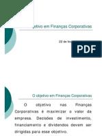 2 O objetivo em finanças corporativas (22fev08)