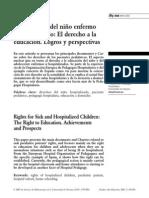 Derechos del niño enfermo hospitalizado