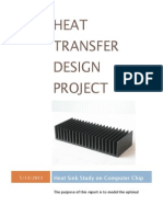 heat transfer design project report