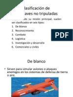 Clasificación De Aeronaves No Tripuladas