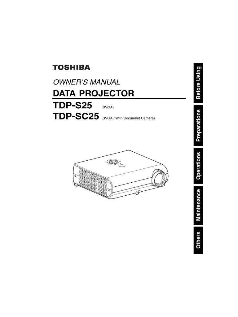 TDP-S25 TDP-SC25: Data Projector