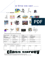 Hobby Worksheet