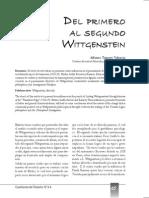Del Primer Al Segundo Wittgenstein