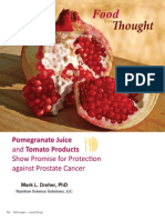 Pomegranate Juice and Tomato Products Show Promise for Protection against Prostate Cancer