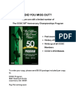 CCGC 2014 Finals Program Sale Flyer