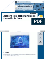 Auditoria Legal Del Reglamento de Proteccion de Datos