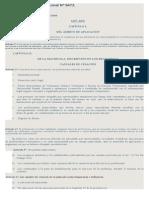 Ley de Ejercicio Profesional Nº 6472