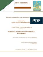 A7 DESARROLLO DE UN PROYECTO DE MEJORA DE LA PERFORMANCE. (Análisis)