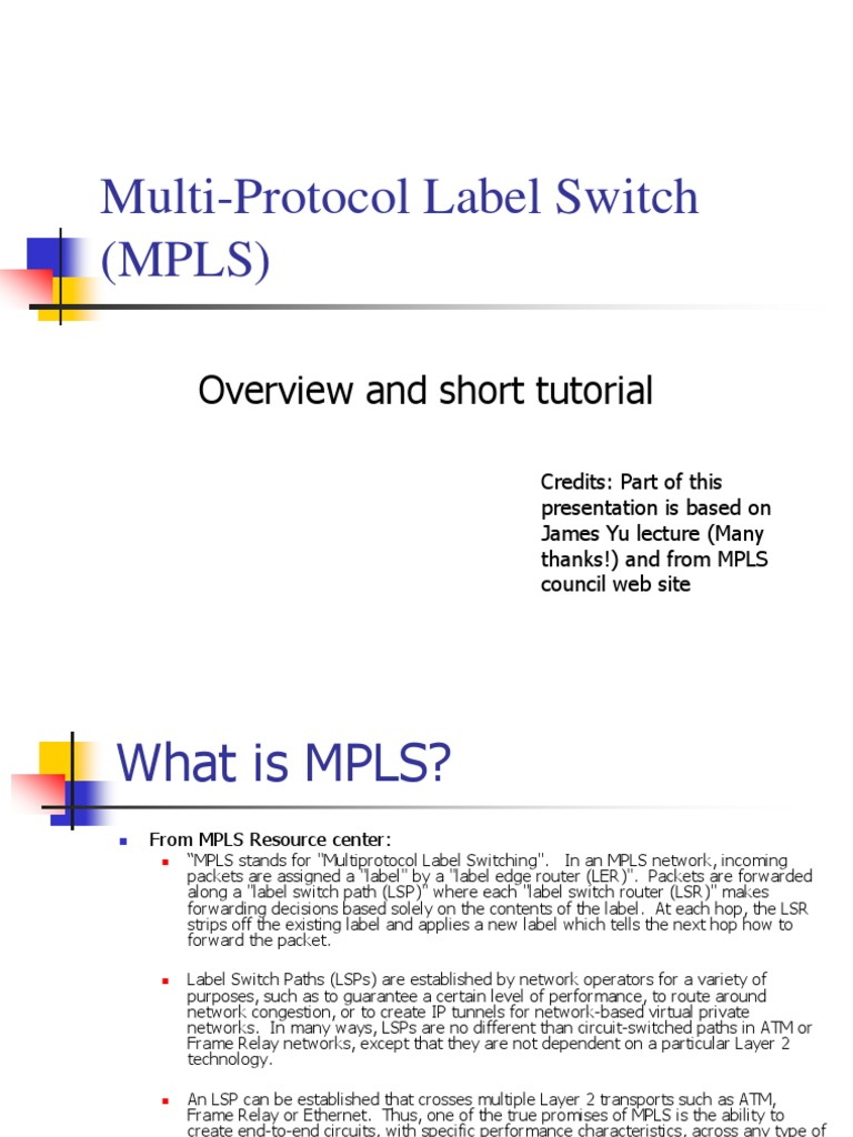 MPLS-jpl | Multiprotocol Label Switching | Asynchronous Transfer Mode