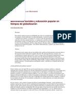 Sáez-Movimientos sociales, educación popular y globalización