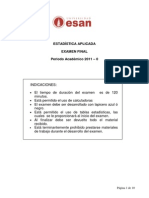 Estadistica Aplicada EF 2011-0