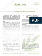 Financial Applications to the Court the Process