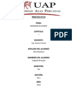 9° informe suelos DENSIDAD EN CAMPO