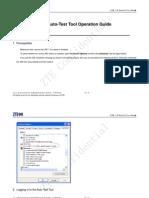 ZXV10 IPTV Multimedia Solution(V4.06.02.01)EPG Auto-Test Tool Operation Guide