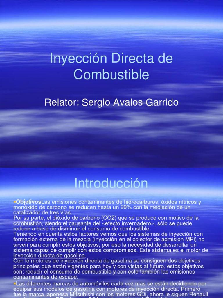 Inyecci U00f3n Directa De Combustible Ppt