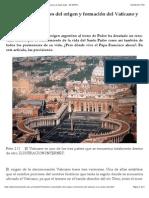 Historia- curiosidades del origen y formación del Vaticano y la Santa Sede