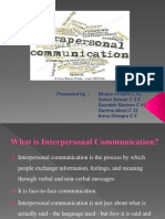 Bc - Interpersonal Communication