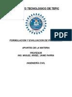 FORMULACION y Evaluacion d Proyectos IC Apuntes MAJP