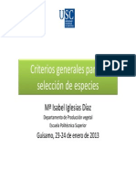 Criterios  selección  especies1
