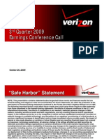 Verizon 3Q 2009 Earnings