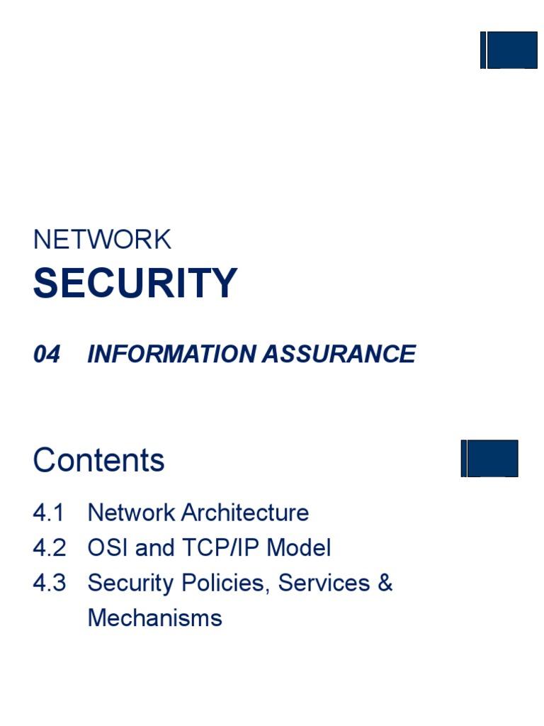 NS - 04 Information Assurance_4 | Osi Model | Internet ...