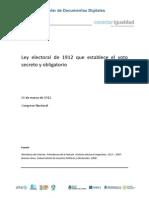 Ley Electoral 1912