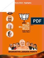 BJP Manifesto 2014 Key Highlights
