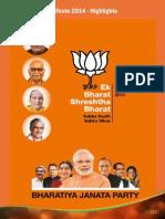 BJP Manifesto 2014 Key Highlights