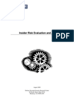 PERSEREC Insider Risk Evaluation and Audit Tool Pp09-03